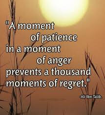 Patience overcomes anger