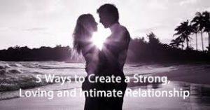 create bond and intimacy